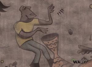 Carta da parati wallpaper Africanism